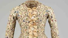 Detail polychrome embroidered jacket, early 17th century