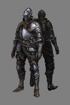 Concept art Knight from Dark Souls 3 Dark Souls 3 Knight, Dark Souls Armor, Dark Souls 2, Fantasy Armor, Dark Fantasy Art, High Fantasy, Medieval Armor, Medieval Fantasy, Armor Concept