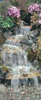 Pondless Waterfall safe for the babies Gardens are not just for lawns and family Engage in fields, but can also be great spots for storage sheds wherein on Back Gardens, Outdoor Gardens, Water Gardens, Steep Backyard, Yard Sheds, Garden Waterfall, Tabletop Fountain, Garden Fountains, Backyard Projects