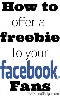How to offer your facebook fans a freebie for liking your page! #facebook #blogging #socialmedia
