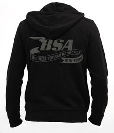 BSA - Men Zip Hoodie Sweatshirt ••• Sudadera Negra 37.50€ ✠ #LeviathanCo #tshirt #design #psychobilly #creative #create #clothes #vintage #diseño #lifestyle #rockNroll #pinup #rockabilly #hotrod #tattoos #motocicletas #bikers #camiseta #rider