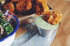 Seitan Fried Chicken with a Cornflake Crust ~ Vegan recipe by Guac & Roll