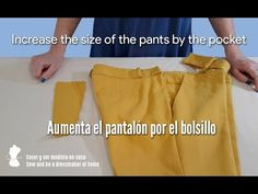 Increase the size of the pants by the pocket Sewing Pants, Youtube, Refashion, Dressmaking, Casual Shorts, Khaki Pants, Singer, Pocket, Jeans
