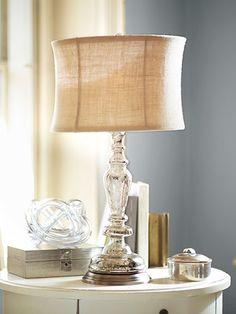 Leera Antique Mercury Glass Table Lamp Base, Pottery Barn. Beautiful