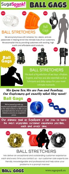 Browse this site https://www.sugaspank.eu/ball-stretchers for more information on Ball Gags. A Ball Gags manages to say so much while its wearer can't speak a word! As part of a bondage or BDSM session, a ball gag can signify a new level of submission since the person wearing it allows themselves to give up their ability to talk, thus relying on other forms of communication.  Follow us: https://www.youtube.com/channel/UCuRXWrcg06dmE5TeA6m6C2Q/about