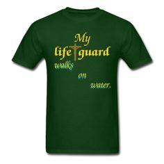 · ♡ · $19.99 · My life guard walks on water.