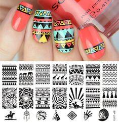 $2.39 Aztec Pattern Nail Art Stamp Template Image Plate BORN PRETTY BP-L010 12.5 x 6.5cm - BornPrettyStore.com