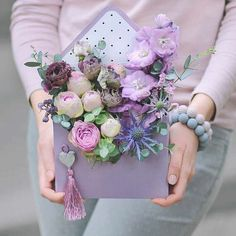 The Best Bouquet Ideas For Your Fall Wedding Bridal Bouquet Fall, Pink Bouquet, Purple Bouquets, Flower Bouquets, Bridal Bouquets, Flower Box Gift, Flower Boxes, Deco Floral, Arte Floral