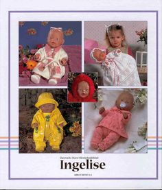 Album Archive - Dukketøj til Baby Born 2 - Ingelise Knitting Dolls Clothes, Ag Doll Clothes, Sewing Dolls, Ag Dolls, Reborn Dolls, Knitting Patterns Free, Knit Patterns, Baby Knitting, Crochet Baby