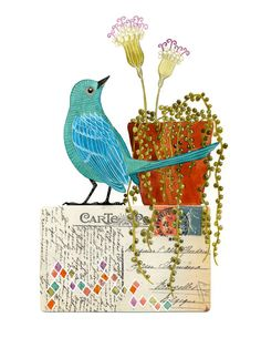 Geninne creates the most beautiful watercolors and mixed media. Her colors and rich textures are just spectacular.