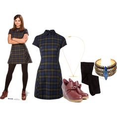Clara Oswald - The Name of the Doctor by roseunspindle on Polyvore featuring Hobbs NW3, Erickson Beamon, Maria Black and ClaraOswald