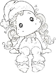 Waiting For Christmas 2014 - Little Cute Tilda Colouring Pics, Coloring Sheets, Coloring Books, Adult Coloring Pages, Digital Stamps Christmas, Christmas Embroidery Patterns, Marker Art, Digi Stamps, Copics