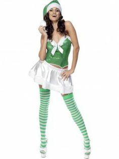déguisement noel robe verte