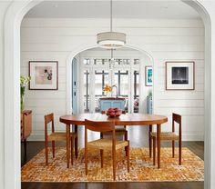 Table and chairs - WANT! ||  Bungalow Remodel by Clayton & Little Architects