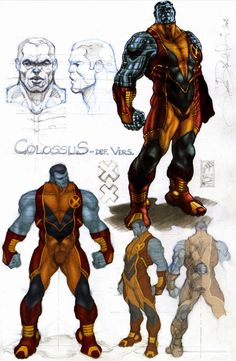 Astonishing X-Men Colossus sketches by Simone Bianchi