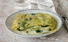 LASAGNE CON CREMA DI ZUCCHINE Lasagna, Pesto, Quiche, Zucchini, Buffet, Food And Drink, Chicken, Breakfast, Recipes