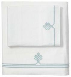 Aqua Gobi Embroidered Sheet Set traditional sheets