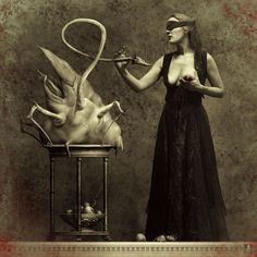 """Die Alienamme (The alien nurse)"", photographic collage, 2006 by Michael Hutter."