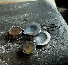 amber sterling silver earrings by jolantakrajewska on Etsy, $98.00