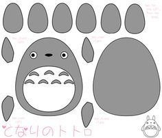 Totoro plush fabric by sbrookshire on Spoonflower - custom fabric  One stop to make a plushie!