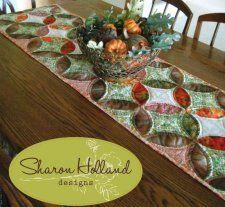 Free Pattern - Orange Peel Table Runner by Sharon Holland