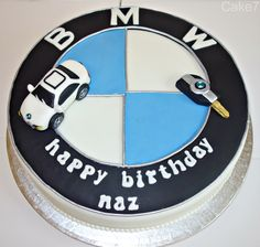 BMW themed cake. (Price from £32) www.cakeseven.wix... Facebook- Cake7. Twitter- Cake7 email: cake.seven@aol.co.uk phone: 07731 882 988