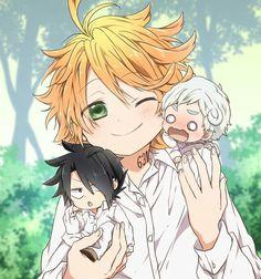 the promised neverland enma Chibi, Otaku Anime, Manga Anime, Fan Art Anime, Hxh Characters, 3d Fantasy, Anime Crossover, Haikyuu Anime, Anime Shows