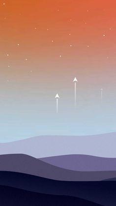 Landscape minimal stars warm hd k Iphone Wallpapers Hd - Best Home Design Ideas