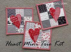 Sew Lux Fabric : Blog: Tutorial : Heart Mini Trio