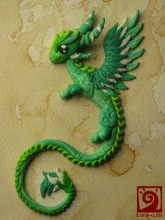 green by Sayuri-Cruz.deviantart.com on @deviantART -- cute green dragon