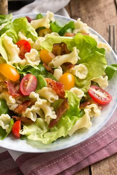 blt pasta salad by kokocooks, via Flickr