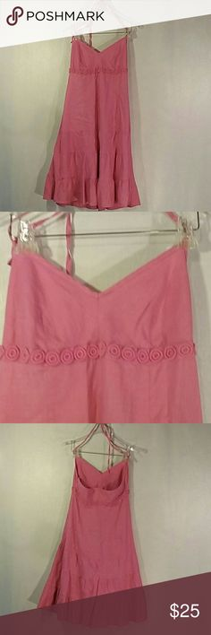 Jcrew halter dress Gently pre owned, no obvious defects or flaws J. Crew Dresses Strapless