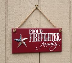 Check out our fire fighter sign selection for the very best in unique or custom, handmade pieces from our shops. Firefighter Home Decor, Firefighter Family, Firefighter Gifts, Firefighters Wife, Volunteer Firefighter, Firefighter Cross, Firefighter Pictures, Firefighter Quotes, American Flag Painting