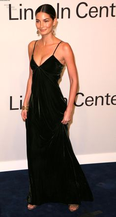 Lily Aldridge- Stunning in this simple black gown