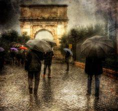 Pretty photo of a rainy day. Weather Cloud, Rain Go Away, Bokeh Effect, Rain Days, Rain Umbrella, Rainy Night, Pretty Photos, Cute Pictures, Art Photography
