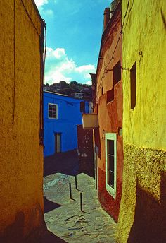 Guanajuato, Mexico (I've been there, it is a beautiful and amazing city)