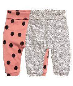 Set van 2 leggings | Roestroze | Kids | H&M NL