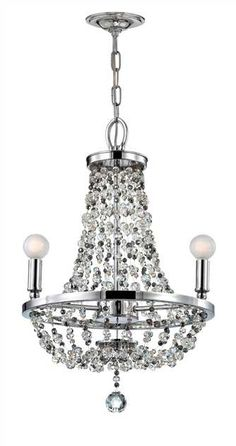 Crystorama - Crystorama Channing 3 Light Chrome Mini Chandelier
