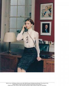 Fashion Gone Rogue - Karlie Kloss, Daphne Groeneveld, Hilary Rhoda and Constance Jablonski Seduce the Office in Venetia Scott's Self Service Shoot Karlie Kloss, Look Office, Office Looks, The Office, Office Chic, Office Style, Office Fashion, Business Fashion, Business Wear