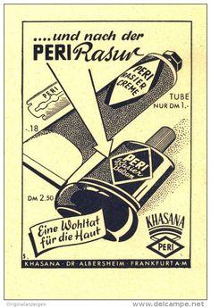 Original-Werbung/ Anzeige 1950 -  PERI / KHASANA / DR. ALBERSHEIM FRANKFURT a.M. - ca. 70x 100 mm