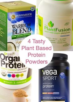 4 Tasty Plant Based Protein Powders for Clean Eating where I share my favourites, pros & cons and where to buy for less. Best clean protein powder is here. Clean Eating Recipes, Raw Food Recipes, Diet Recipes, Plant Based Protein Powder, Plant Based Diet, Best Organic Protein Powder, Coleslaw, Healthy Family Meals, Family Recipes