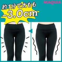 たった1分で太ももが-3cm!? パーツ別瞬間痩せエクササイズ【リアルレポートつき】 | マキアオンライン(MAQUIA ONLINE)