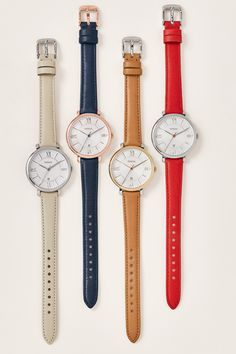 Jacqueline is the feminie and classic watch fit for any outfit. Our favorite part about her? Her interchangeable straps!