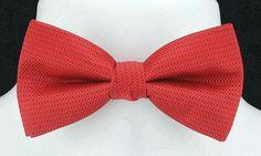 New Christmas Red U Lorenzo Mens Bow Tie Hanky Tuxedo Wedding Fashion Bowtie Set #UmoLorenzo #BowTie