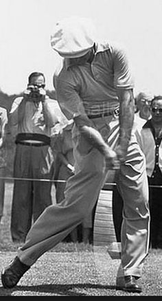 Ben Hogan Hit more practice shots than anyone, perhaps ever.