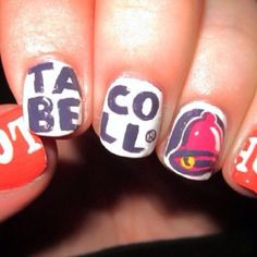 Taco Bell nails