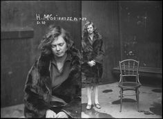 Hazel McGuinness, 1929. Busted for cocaine possession.