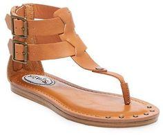 43f1c9da478e Cat  amp  Jack Girls  Stevies  SUNDEE Double Buckle Thong Sandals - Cognac  Kinds