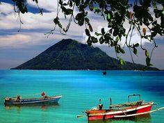 breathtaking view in Bunaken, Indonesia.
