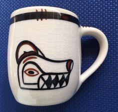 Lambert Potteries Ltd Vancouver BC #40 Wolf West Coast First Nations Mug RARE #LambertPotteriesLtd David Lambert, First Nations, Vancouver, Tea Pots, Wolf, Pottery, Mugs, Tableware, Ebay